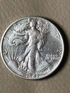 USA 1943 Half Dollar Silver Coin