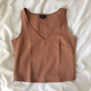 Bardot Peach Crop Top