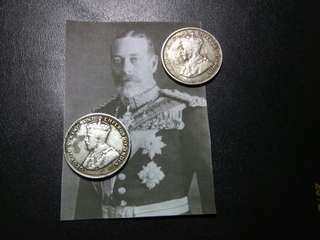 20 Cent Straits Settlements Silver King George V Coin