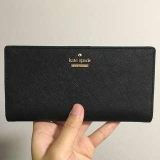 INSTOCK SALE Kate Spade Cameron Street Stacy Medium Snap Wallet Black