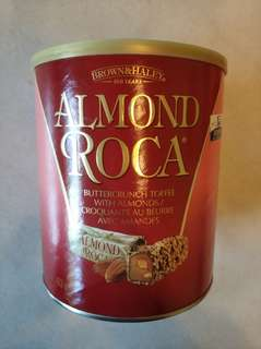 Almond Roca Canister
