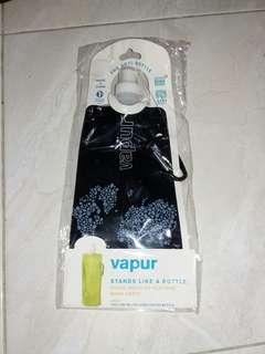💜 Vapur Botol Air Minum Lipat Portable Hitam