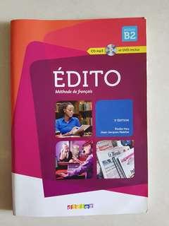Edito méthode de français Niveau B2