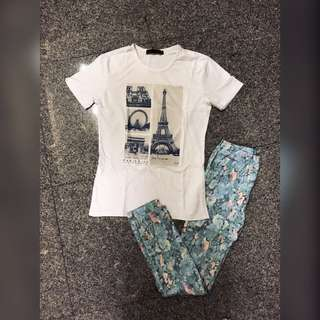 Japanese Brand Retro Girl Floral Legging Pants
