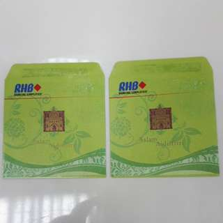 Angpow Packet Sampul Duit Raya RHB Bank Vintage