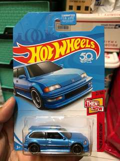 Hot Wheel 90 Honda Civic EF Blue Hotwheels