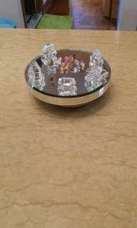 旋轉盆加水晶飾物