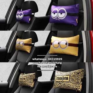 minions 汽車頭枕