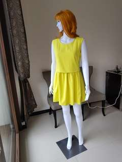 Yellow dress semi formal