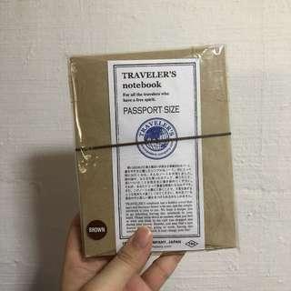 Midori Traveler Notebook Passport Size (Brown)