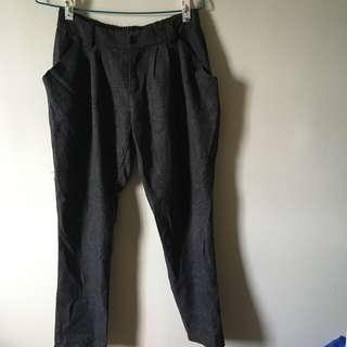 🚚 [古著/vintage] 深灰色哈倫西裝長褲