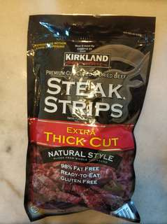 Kirkland Signature Steak Strips Extra Thick Cut