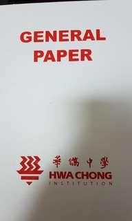 Hwa Chong Junior College(HCJC) H1 General Paper (GP) Notes