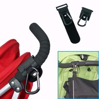 RS - Super Durable Stroller Hook *Leather and Metal*