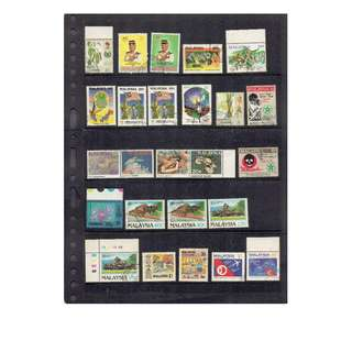 Used Malaysian Stamps as in picture (excludidng Mounting)