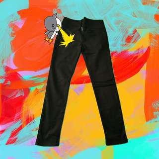 AUTHENTIC FOREVER 21 HIGH WAISTED BLACK  ZIP UP PANTS