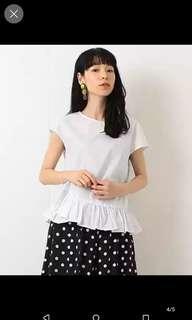 🚚 黑色日系花邊短袖襯衫0碼