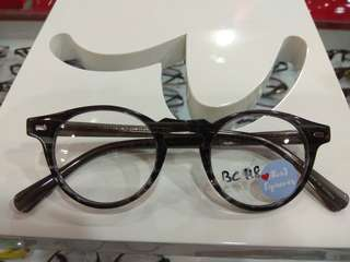 AlexJ Eyewear round acetate frame unique