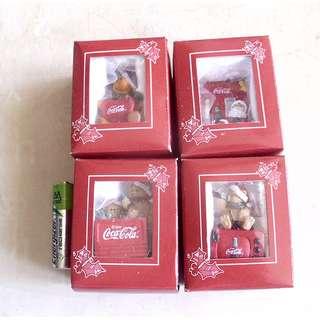 90年代產品可口可樂迷你聖誕掛飾一套4個 (議價不覆)