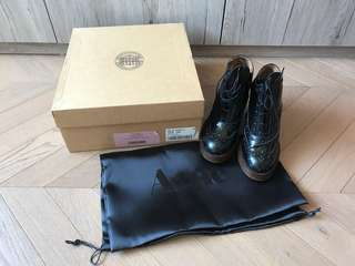 全新 Acne studio oxford platform high heel ankle boots shoes 英倫風短靴高踭鞋