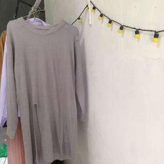 Slit dress knit