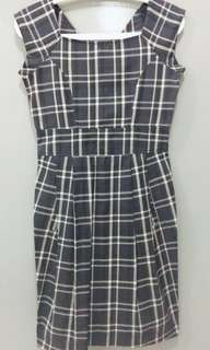 Checked working dress