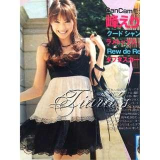 🚚 JILL by JILL STUART 黑X白 總蕾絲 洋裝 日本雜誌刊登 日本製 (87)