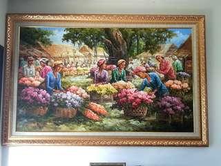Lukisan Pasar Bunga