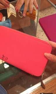 全新Hermes silk-in wallet rose azalea