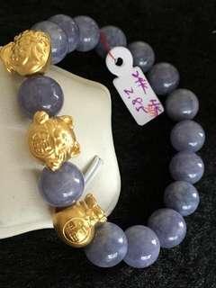 24K Hongkong Gold Grey Bracelet