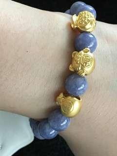 24K HongKong Bracelet Blue Bracelet