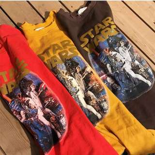 Brown Star Wars Graphic Tee