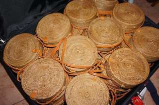 Rattan bag on hand made in bali