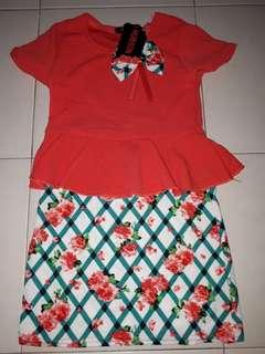 Baju kurung pelpum dress