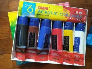 Omni Acrylic paint tubes