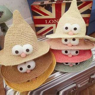 *FREE DELIVERY to WM only / Pre order 18 days, 2pcs RM50* Children straw hat each as shown design/color. Free delivery is applied for this item.