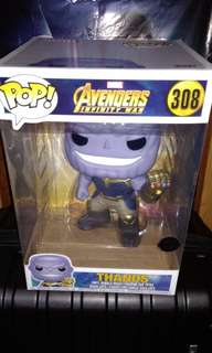 "Super-sized 10"" Thanos Avengers Infinity War Marvel Exclusive Funko Pop"
