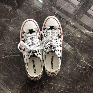 Size 7 women's white star converse