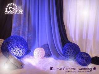 結婚裝飾籐球