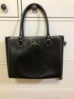Kate Spade genuine black leather tote shoulder bag