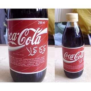 95年中東約旦可口可樂296毫升紙標玻璃樽一枝