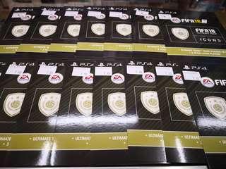 P4 fifa 18 icons 1pc Rm7 3pcs RM15 10pcs rm35
