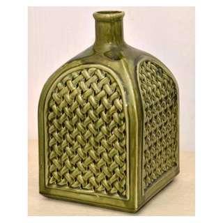 珍藏品 瓷製 縷空瓶造型 蠟獨罩 燈罩 擺設 (非花瓶)