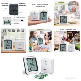 🚚 Hygrometer Indoor Outdoor Thermometer Humidity Monitor by ThermoPro TP60 Digital