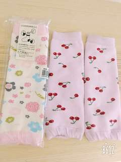 兩雙日本原單大腿襪套及膝襪套