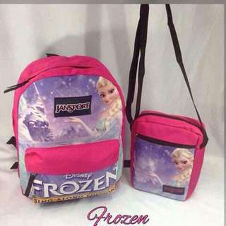 Jansport Character Backpack and Sling Bag Set - FROZEN