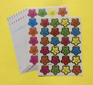 Reward Stickers stars heart circle apple