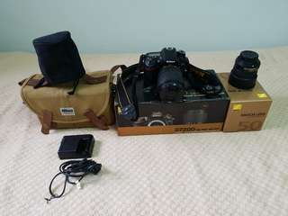 Nikon D7200 with 2 lens  18-140 mm and 50 mm lens