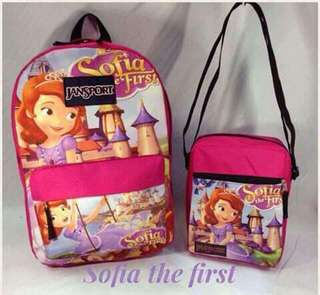 Jansport Character Backpack and Sling Bag Set - SOFIA THE FIRST