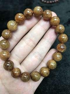 Copper Rutilated bracelet 铜发晶 12mm